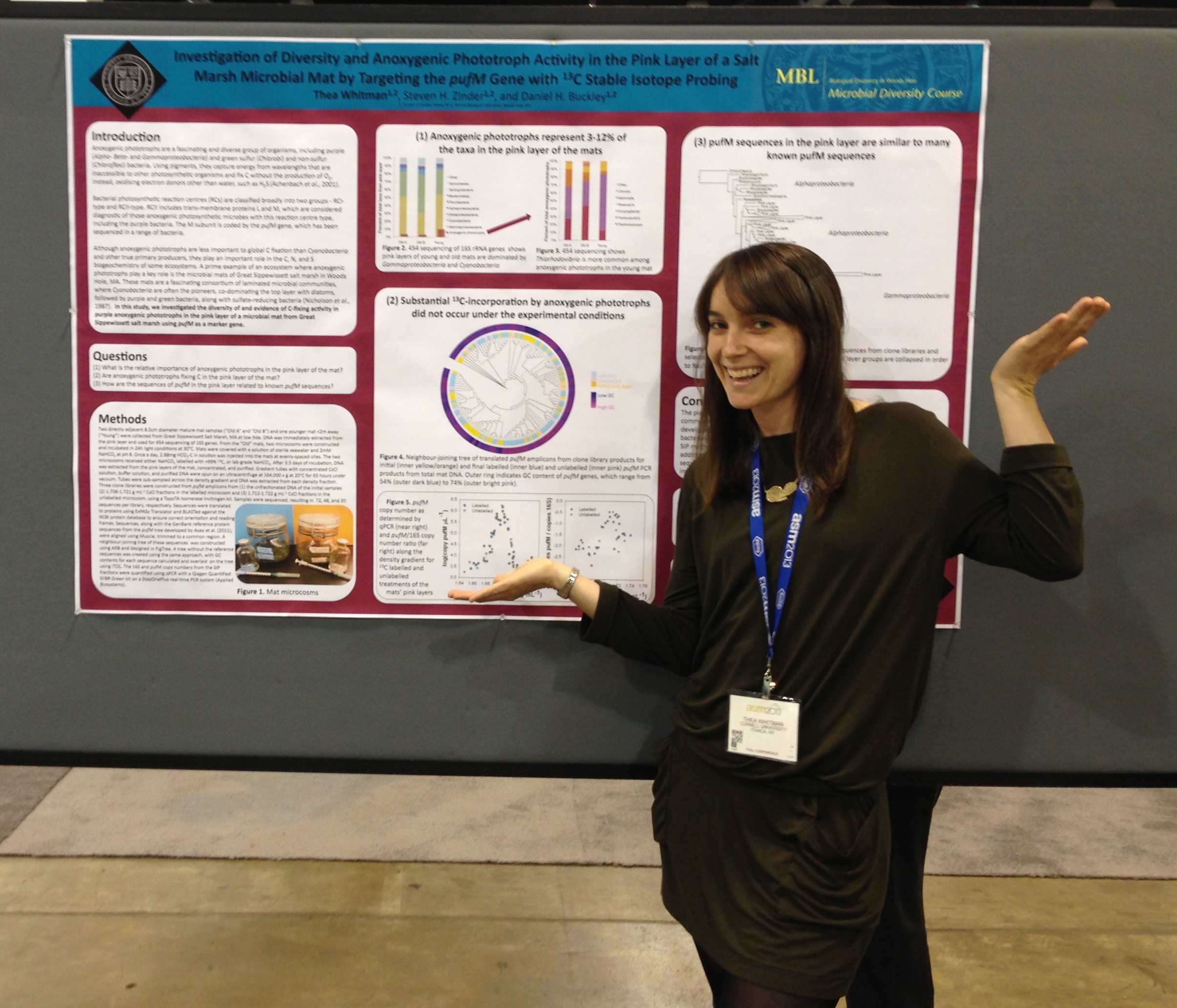 Presenting my MBL Microbial Diversity course research at ASM