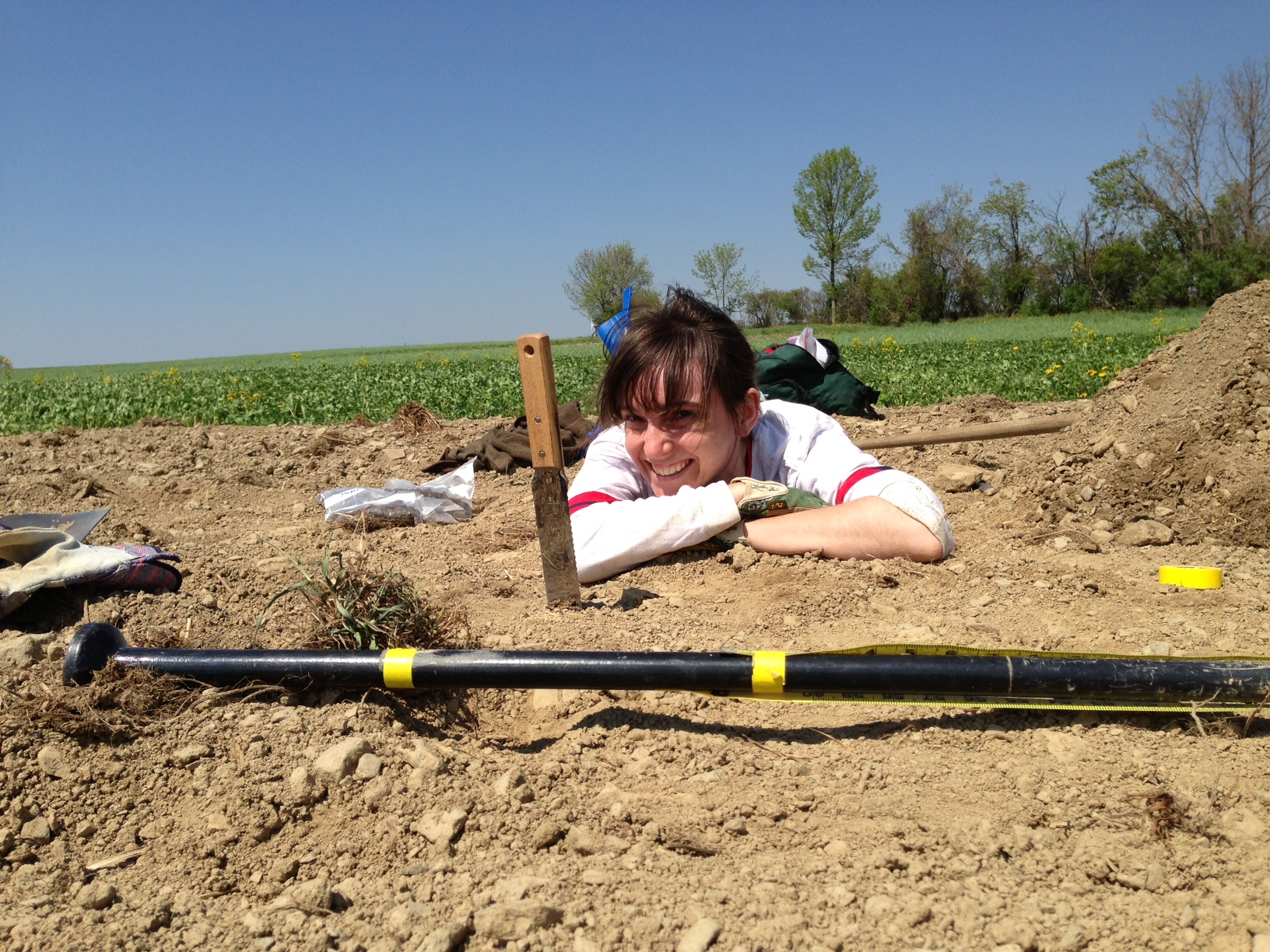 Digging pits at my summer field site