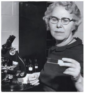 Ethel allen in her lab [source: https://www.supportuw.org/wp-content/uploads/annual_report_06.pdf]